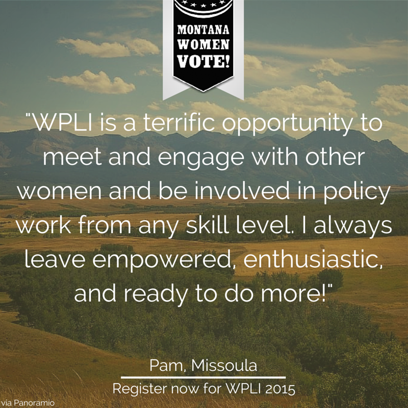 Women's Policy Leadership Institute, Montana Women Vote, Pam Walzer